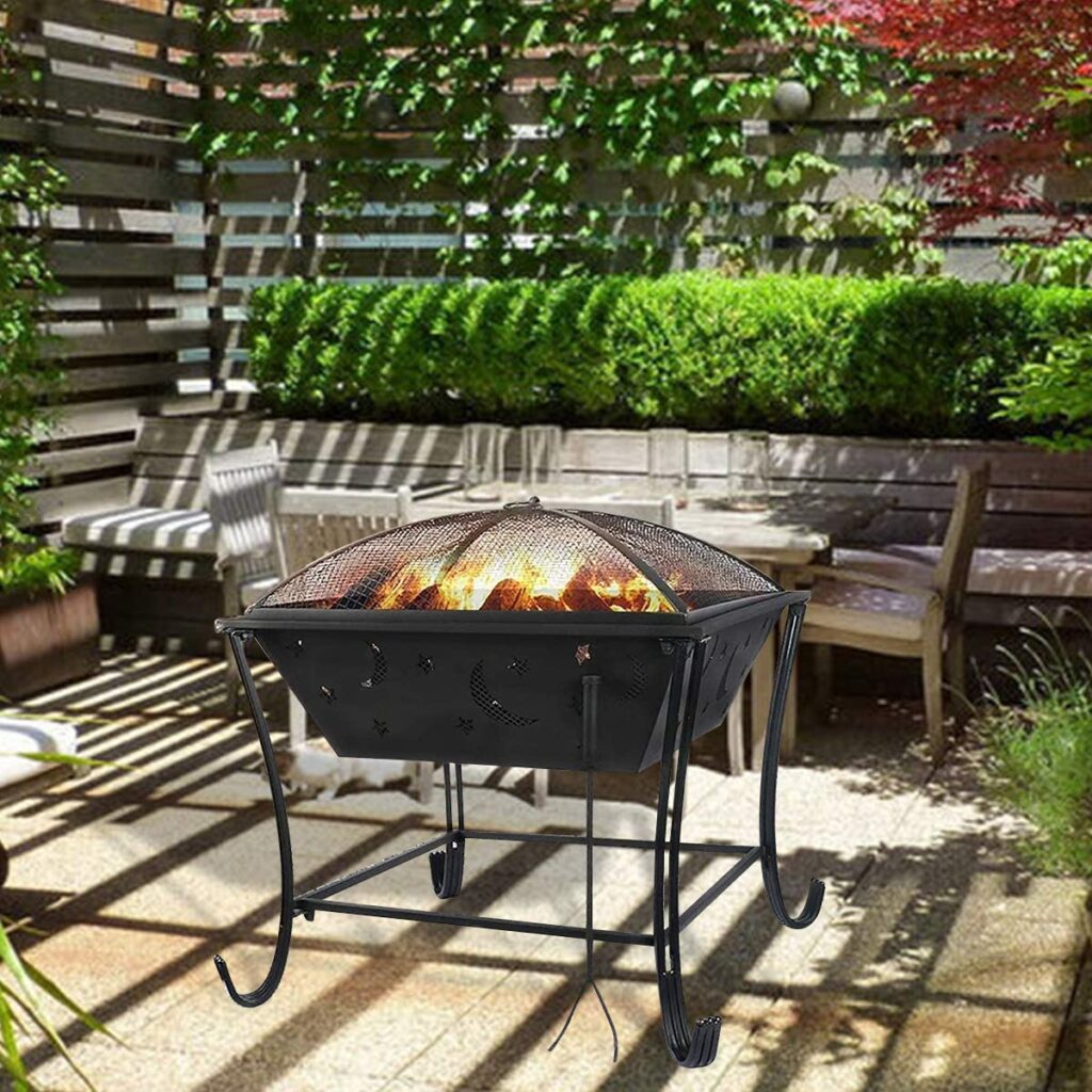 AAROND Fire Pits Outdoor Wood Burning Grill