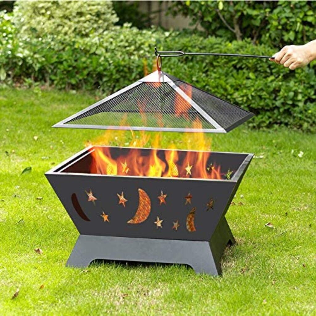 AAROND Outdoor Wood Burning Fire Pit Grill