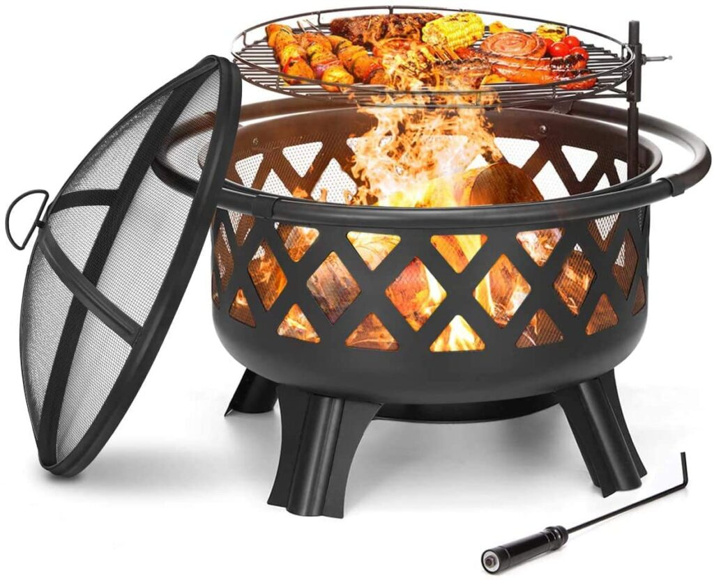 KINGSO 2-in-1 Outdoor Fire Pit