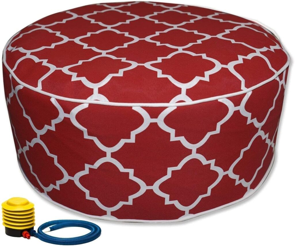 kozzyard inflatable outdoor pouf for sitting