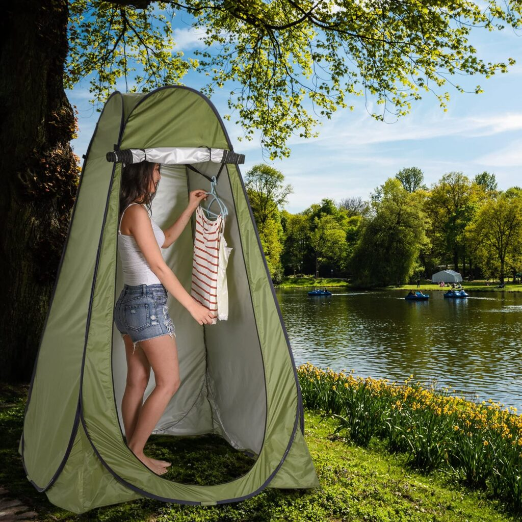 abscotent shower tent outside