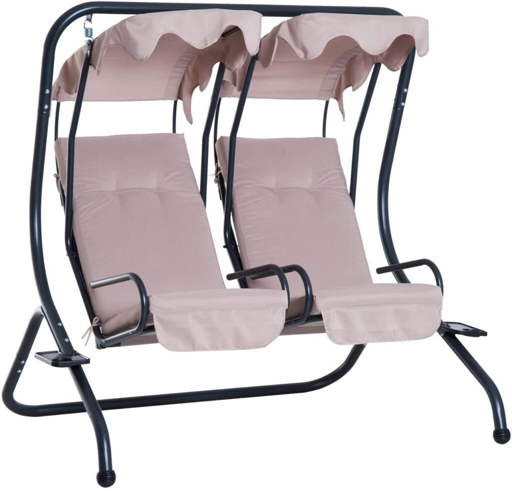 outsunny modern outoor relaz zero gravity swing chairs