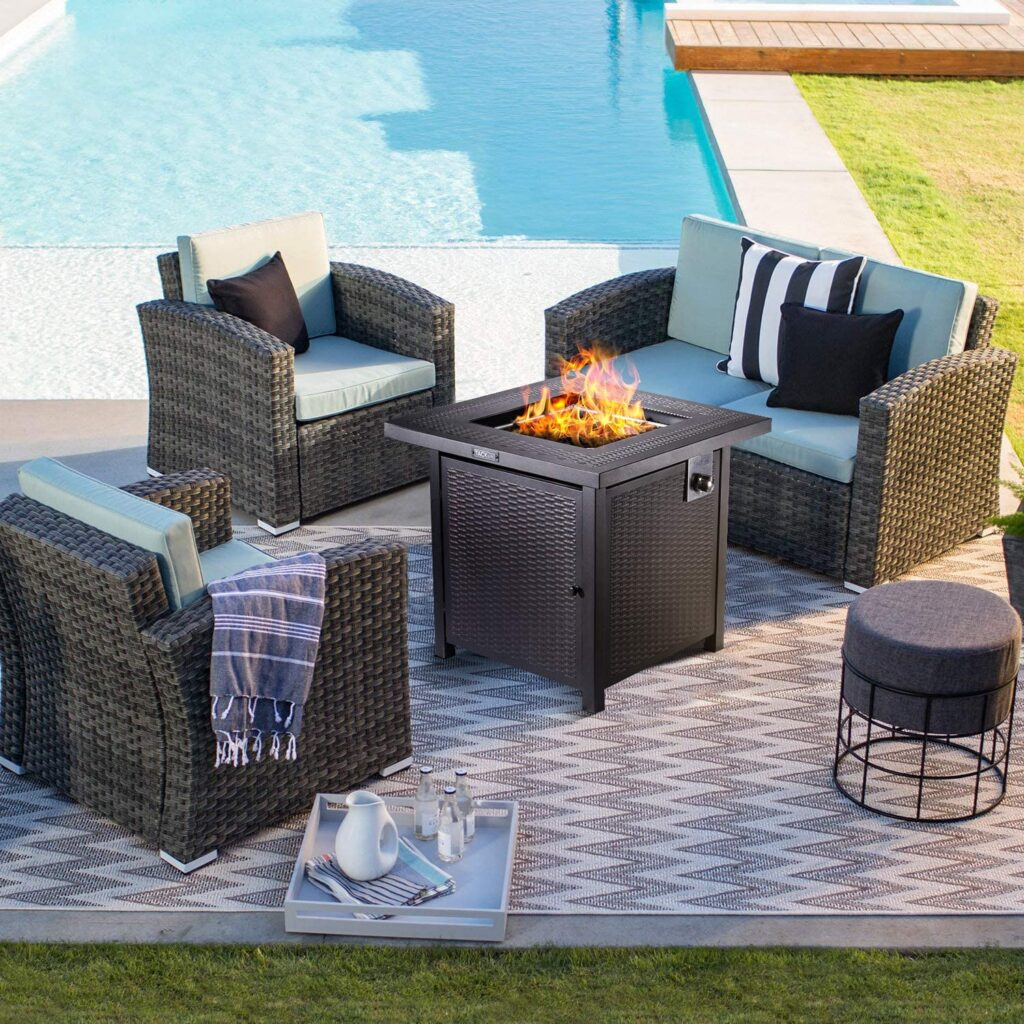 Tacklife square fire pit propane